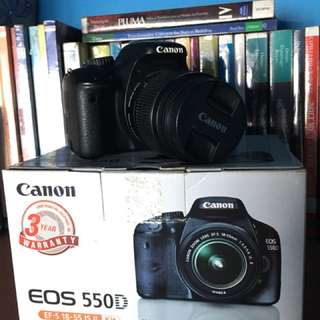 Canon 550d + 18-200mm Tamron Lens + Other Accessories