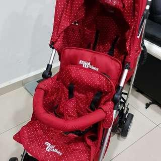 Twin tandem double stroller mini walker