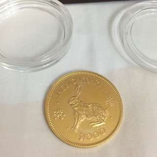 22k gold $1000 coin