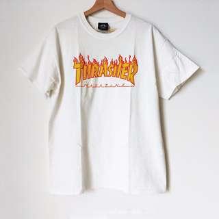 AUTHENTIC Thrasher Flame T-Shirt White - shop rachelteetyler wardrobe