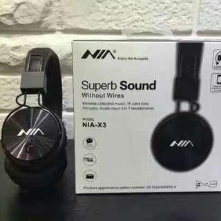 Nia X3 Bluetooth headphones