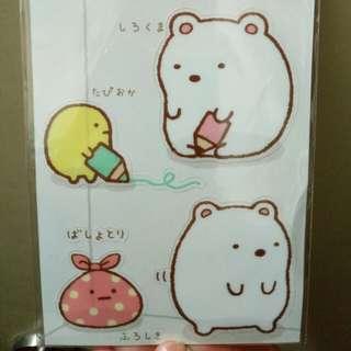角落生物  白熊 透明大貼紙  San-x