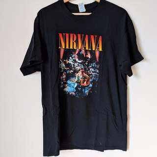 VINTAGE Nirvana Oversized Band Tee - shop rachelteetyler wardrobe Used