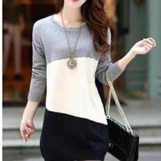 Long sleeves dress blouse