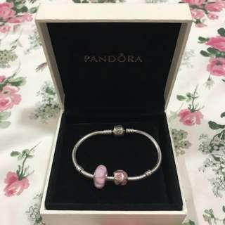 Pre💟Authentic Pandora Bracelet (17cm) & Charms