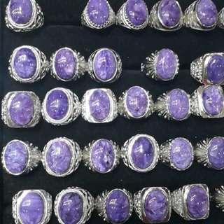 🚚 紫龍晶戒指