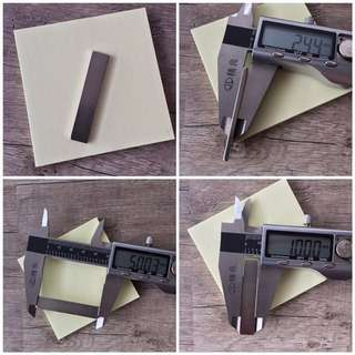 Strong magnets (flat rectangles)