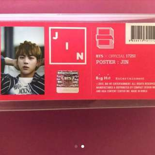 BTS JIN On Stage Poster