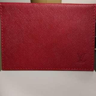 LV 紅色 皮信封 made in France