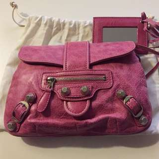 Balenciaga clutch bag Pink 95%new