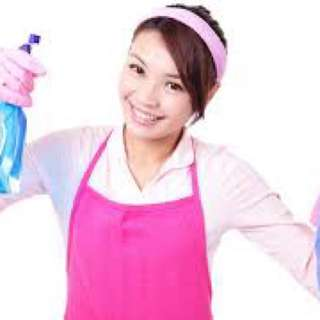 Part-time maid cleaning service