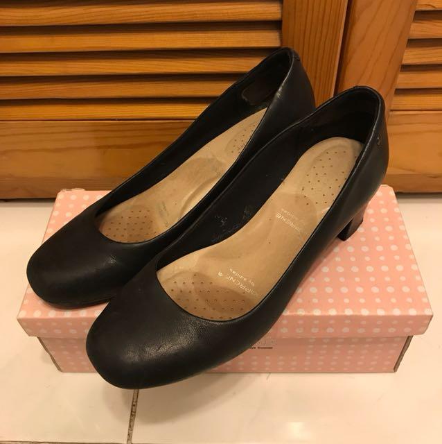 8成新Rockport 黑色番工2.5吋高踭鞋 Size37