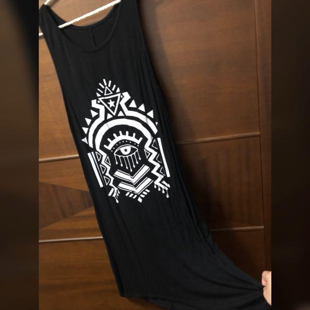 個性棉質背心洋裝
