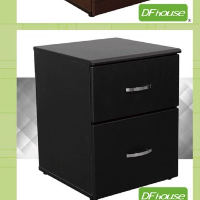 辦公室黑色鐵兩抽屜鐵櫃