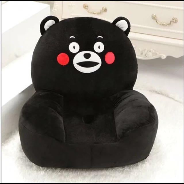 熊本熊可爱造型小沙發/可拆洗/寶寶沙發背靠椅