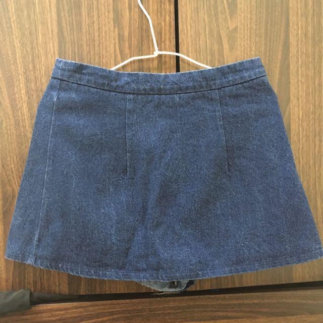 正韓牛仔褲裙