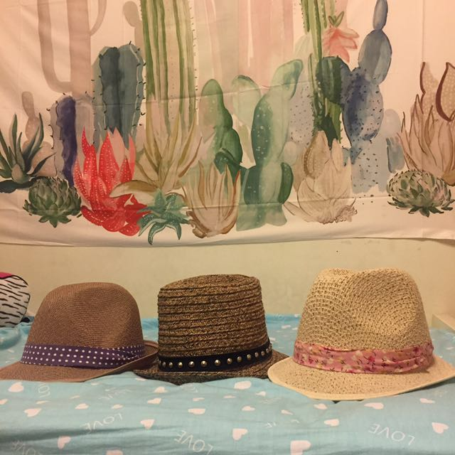 造型小幫 草編紳士帽三色