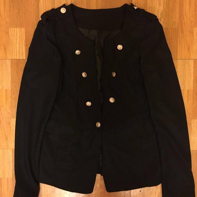 雙排釦 黑色西裝外套 #外套特賣