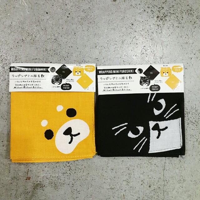 日本 狗狗 貓貓 布巾 方巾