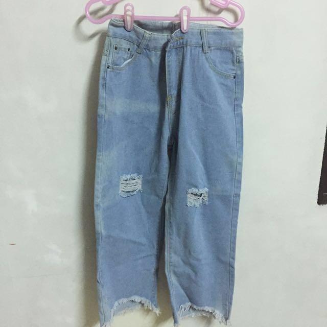 全新牛仔長褲 寬鬆 男友褲 寬褲 #長褲特價#手滑買太多 #兩百元丹寧
