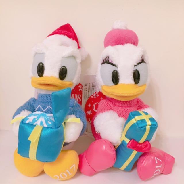 唐老鴨 東京迪士尼 聖誕節限量 站姿吊飾 情侶吊飾 Disney