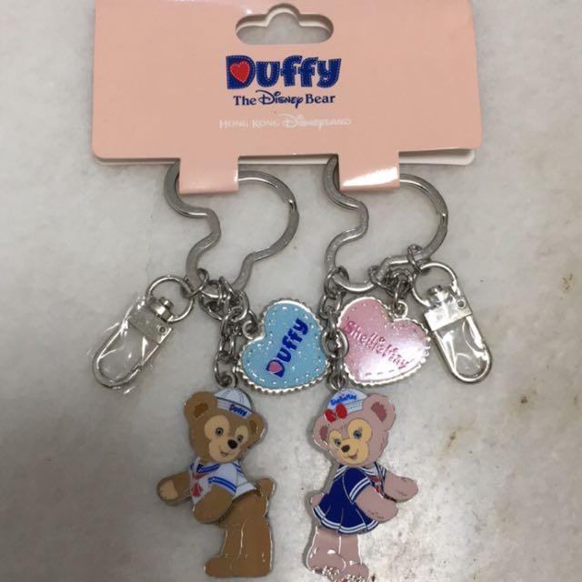 迪士尼 達菲熊與雪莉玫 Disney Duffy&Shellie May  鑰匙圈
