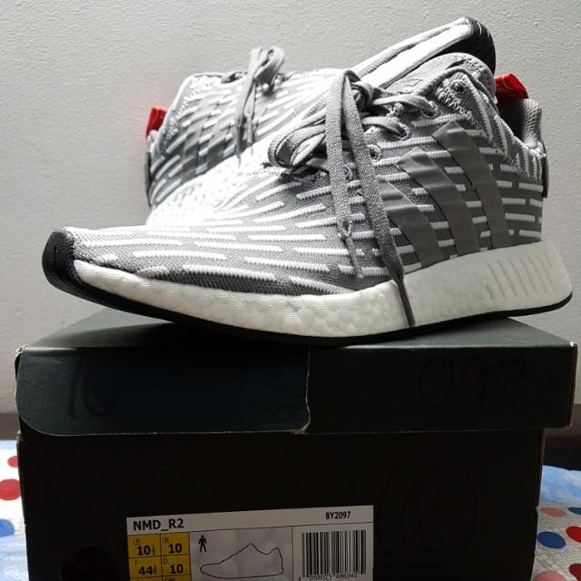 RARE》 Adidas Originals NMD R2 Grey Glitch e91d90b27