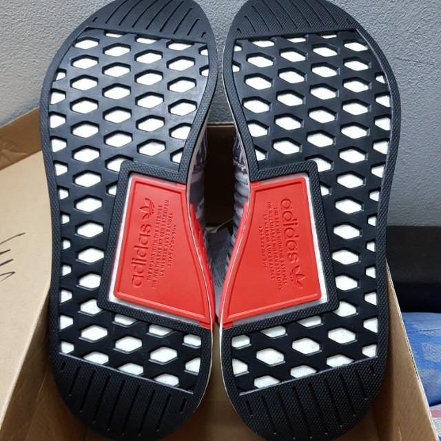《RARE》 Adidas Originals NMD R2 Grey Glitch 70710505a