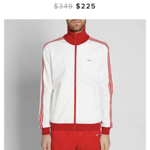35f9d12ad090 ADIDAS ORIGINALS BECKENBAUER LONDON TRACK SUIT MIG 50TH ANNIVERSARY  MADE  IN GERMANY  (WHITE   RED)