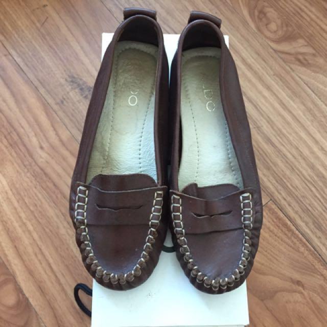 Aldo genuine leather loafers