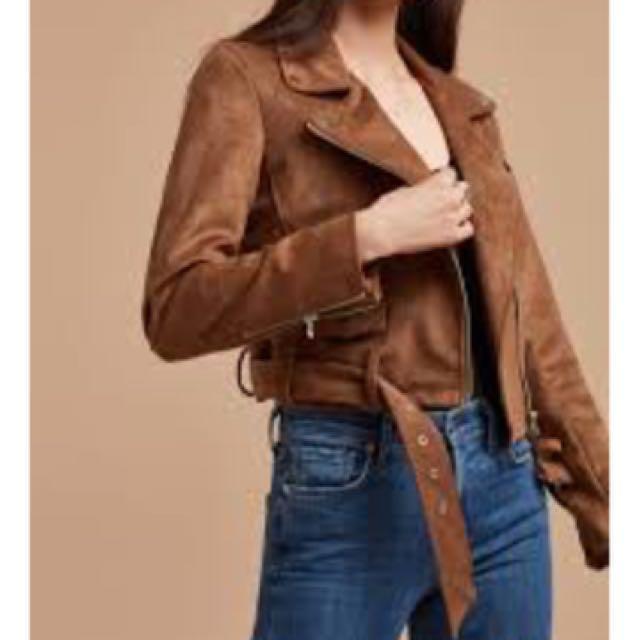 Aritzia Taula Morton Jacket (Vegan Suede)