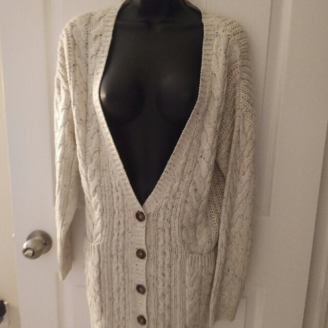 ASOS Cable Knit Oversized Cardigan Size S