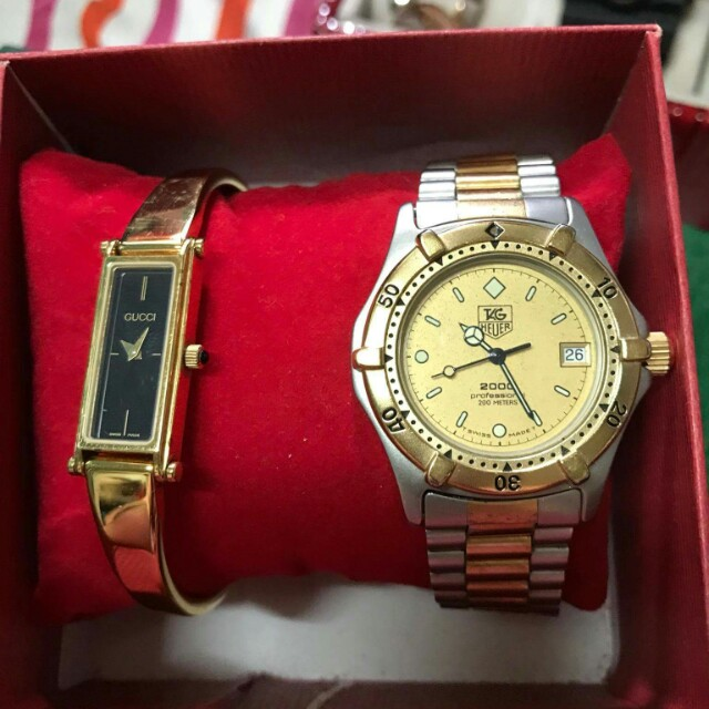 Authentic Gucci and Tag Heuer watch