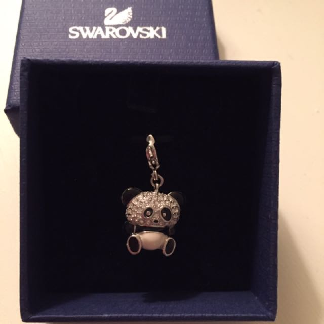 Authentic Swarovski crystal panda pendant