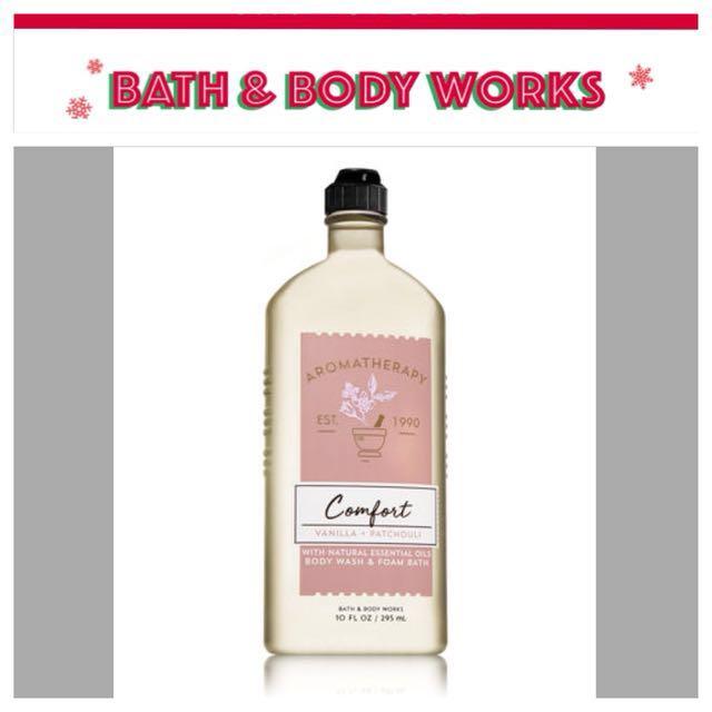 Bath & Body Aromatherapy | Comfort | Vanilla & Patchouli | Body Wash & Foam Bath