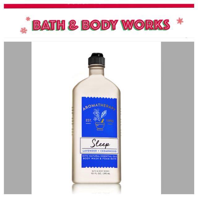 Bath & Body Aromatherapy | Sleep | Lavander + Cedarwood | Body Wash & Foam Bath