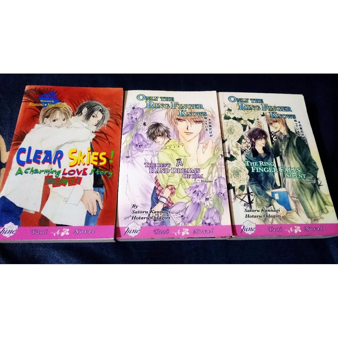 Bl Novels Only The Ring Finger Knows Clear Skies Books Stationery Comics Manga On Carousell