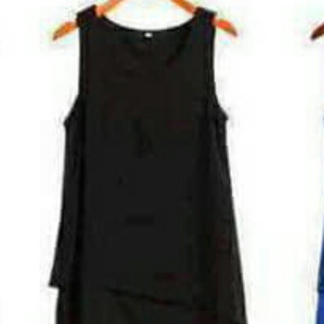black chiffon sleeveless