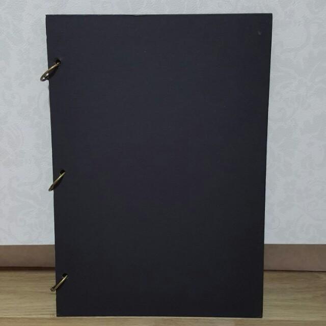 Black Plain Scrapbook Design Craft Craft Supplies Tools On