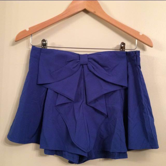 Blue skort/culottes NEW