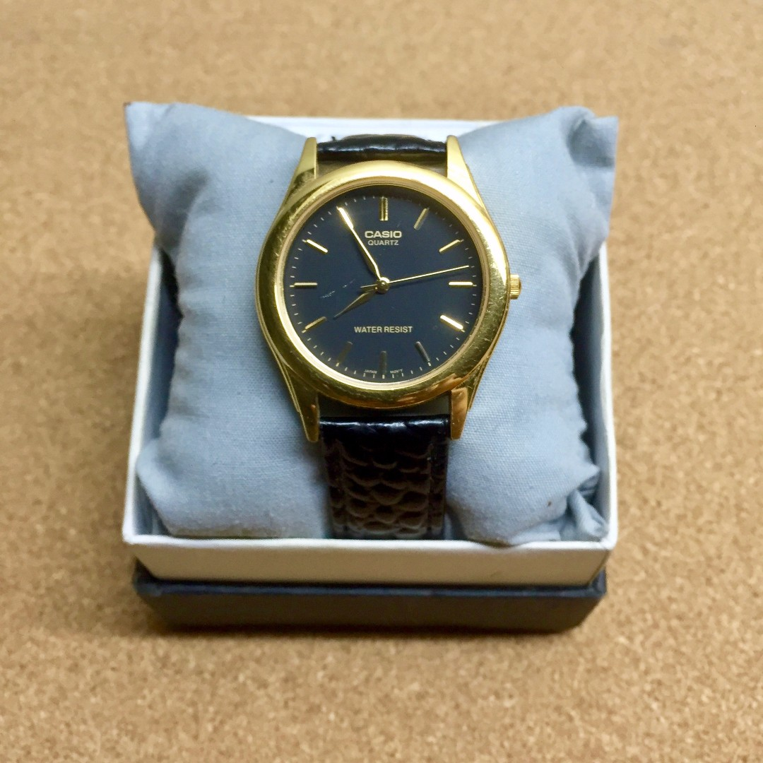 Casio Black Gold Watch Timex Aldo Seiko Fossil Orient Citizen Nixon