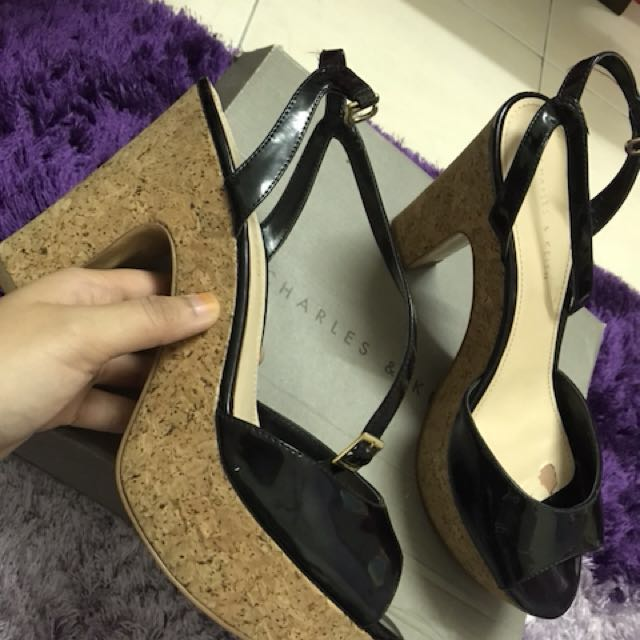 388a9cdecfcb Charles   Keith Platform Open Toe + Ankle Strap