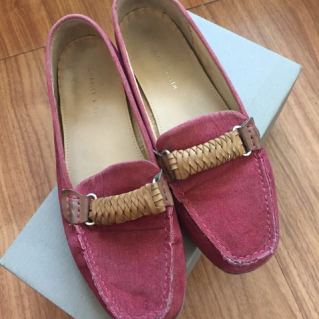 Charles & Keith suede moccasins