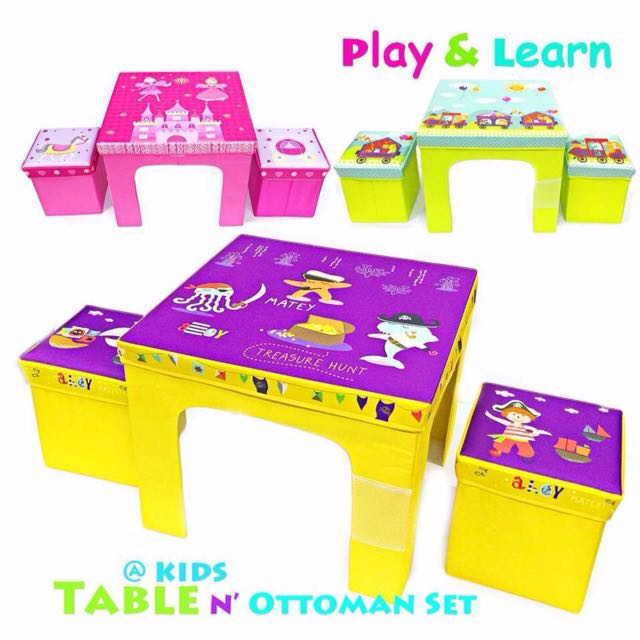 Incredible Children Deluxe 1 Study Table 2 Chair Set With Storage On Pdpeps Interior Chair Design Pdpepsorg