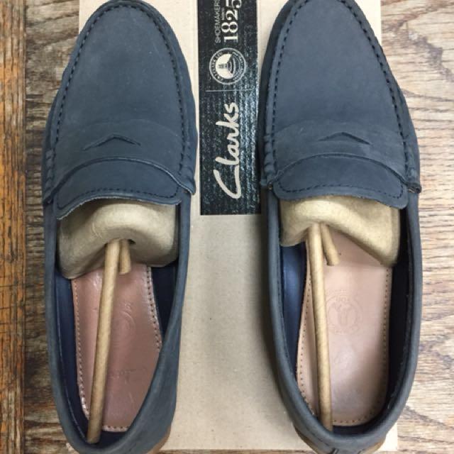 Clarks 麂皮樂福鞋 UK8