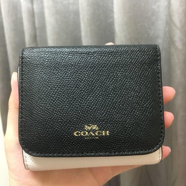 Coach 三層短夾 皮夾 零錢包 小巧可愛