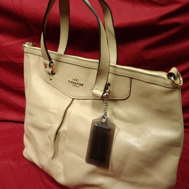 Coach Signature Pleated Handbag