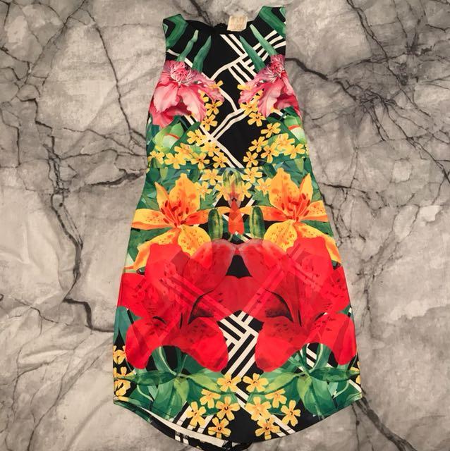 Colourful Mini bodycon dress