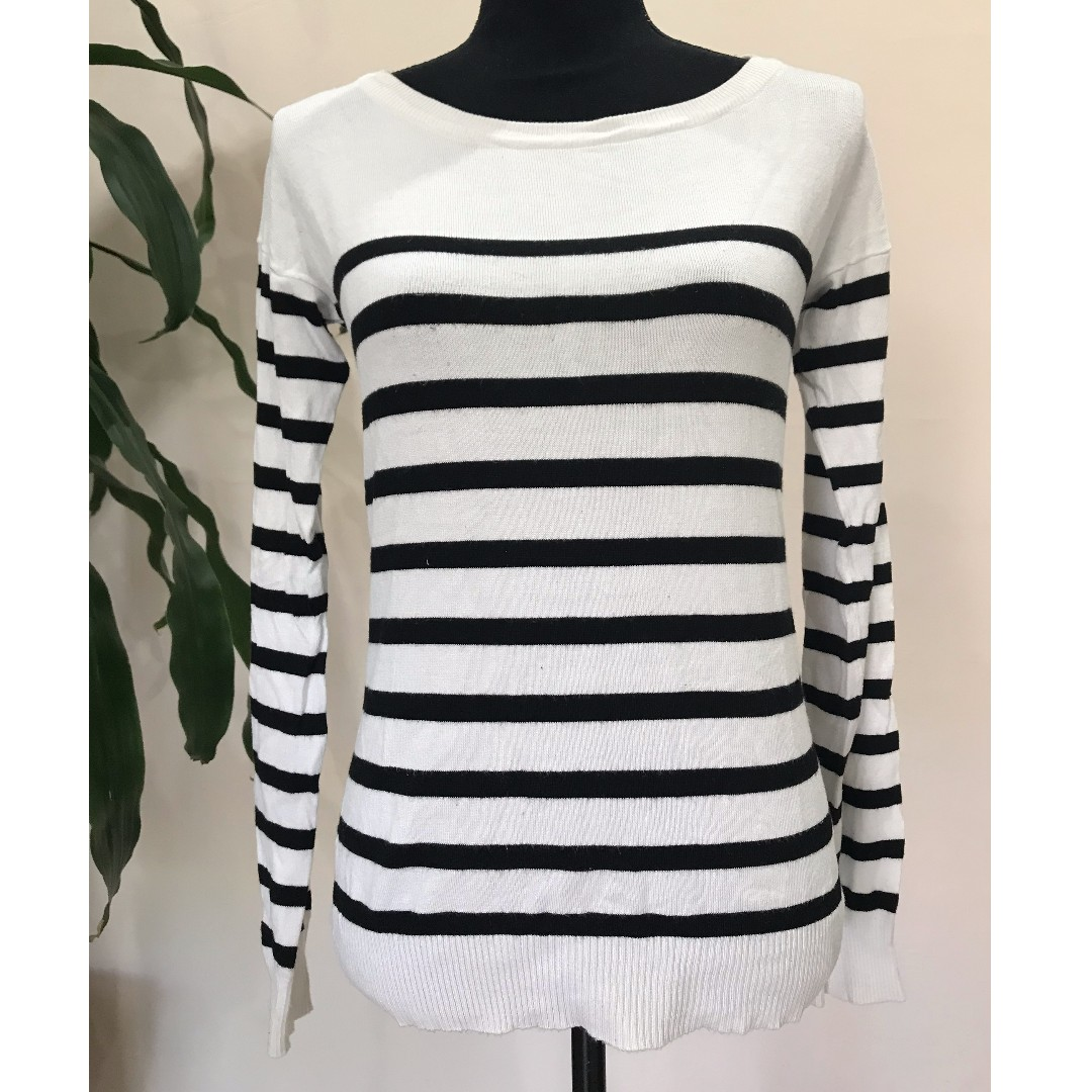CUTE Navy & White Stripe Knitted Sweater