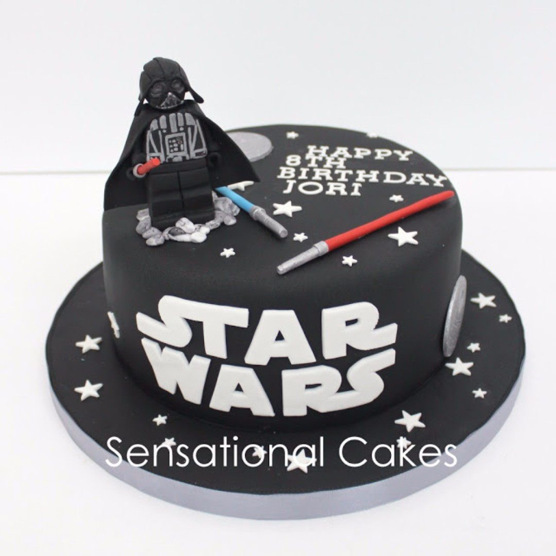 Darth Vadar 3d Star Wars 3d Cake Singapore Black Star Wars Cake